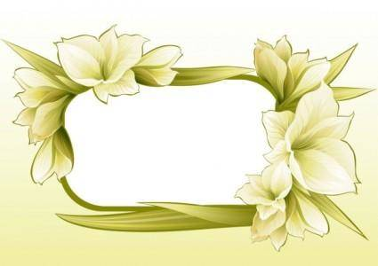 Beautiful flowers and lace 04 vector