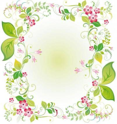 Beautiful flowers and lace 03 vector