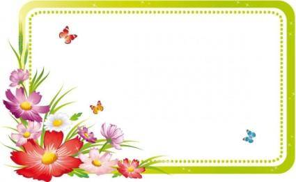 Beautiful flowers and lace 05 vector