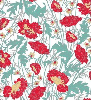 free vector Handpainted flower pattern background vector