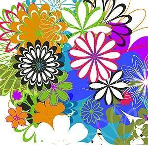 free vector Simple colorful flowers vector