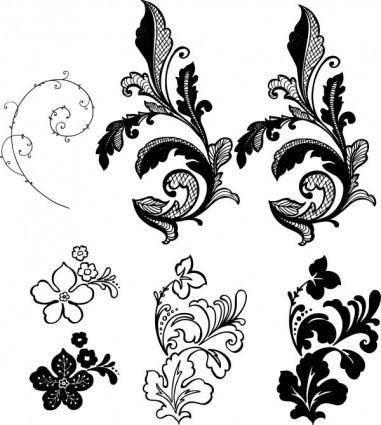Flower background pattern vector side