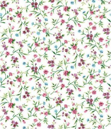 Small purple flowers floral background vector