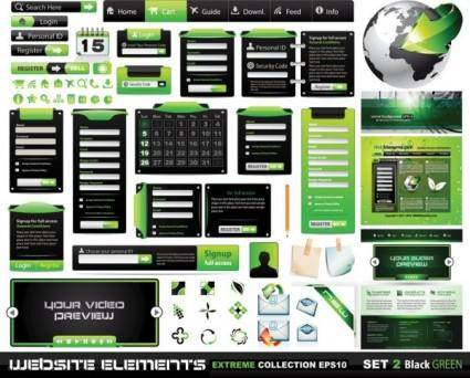 Web design elements 03 vector