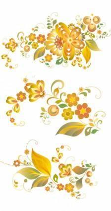 Beautiful flower pattern vector