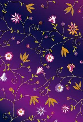 Cute colorful little flowers vector background