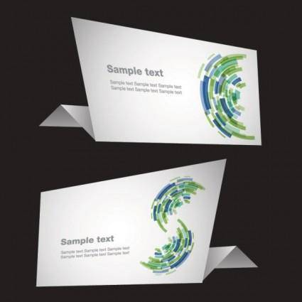 free vector Sense of origami science and technology vector