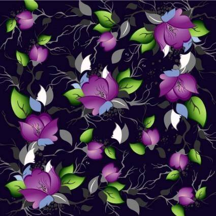 Flowers shading vector 5