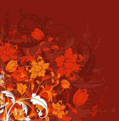 Fashion flower silhouette vector