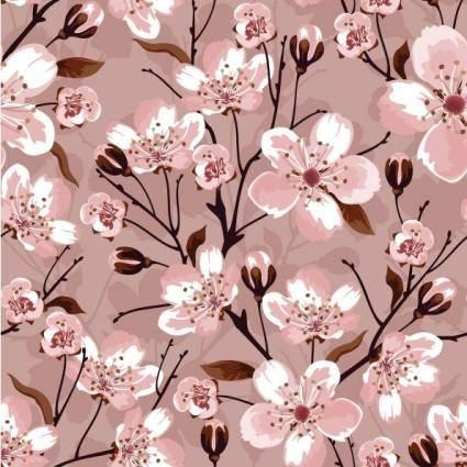 Handpainted flowers vector background 2
