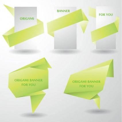 free vector Colorful origami decorative graphics vector 4