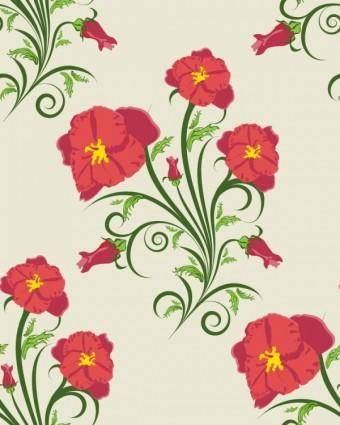 free vector Beautiful flowers illustration background pattern 03 vector