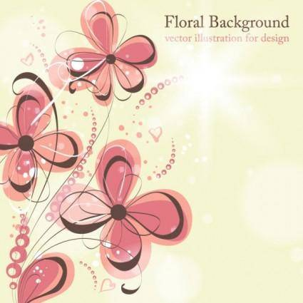 Beautiful flowers illustration background pattern 04 vector