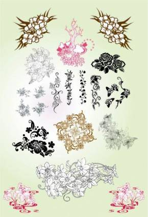 free vector Classical pattern vector flowers
