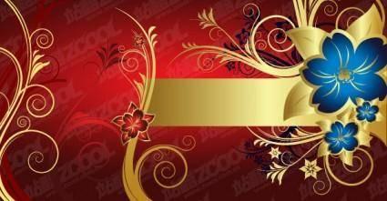 free vector European gorgeous golden flower pattern vector