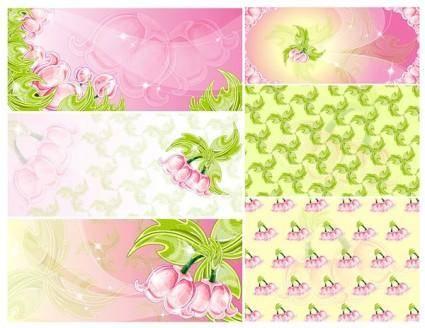 free vector Pink flowers vector