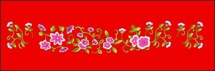 Classical chinese auspicious small flowers vector