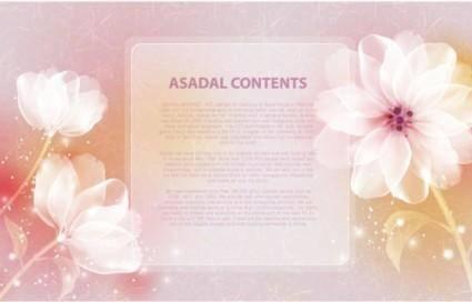 Dream flower template vector 2 text