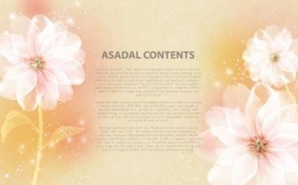 Dream text template vector 4 flowers