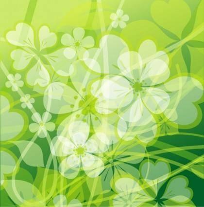 Fresh summer flowers vector background 2 mirage