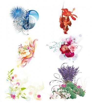 free vector Beautiful flowers vector
