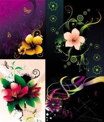 free vector Beautiful flowers vector the trend