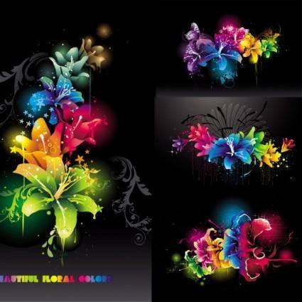 Trend vector flowers