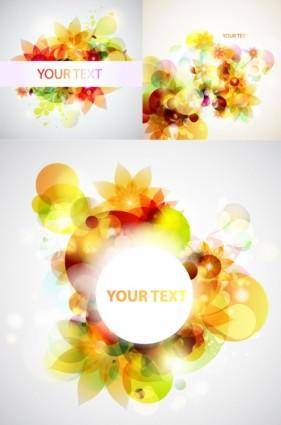 free vector Dream of flowers vector