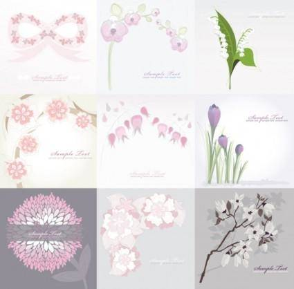free vector Pure flower background vector