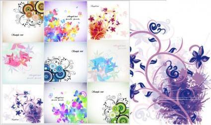 Trend vector floral cards flower cards