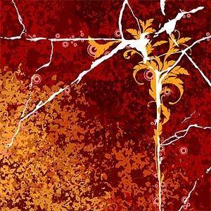 free vector Cracks and flowers vector background decadence