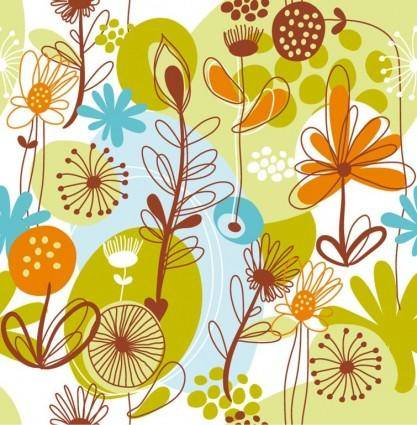 free vector Floral Seamless Pattern