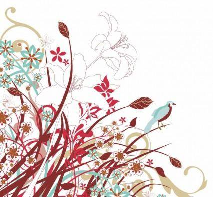free vector Abstract Floral Flowers Vector Graphic