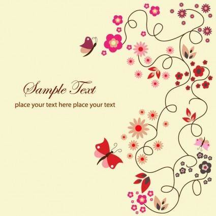 Free Vector Floral Greeting Card
