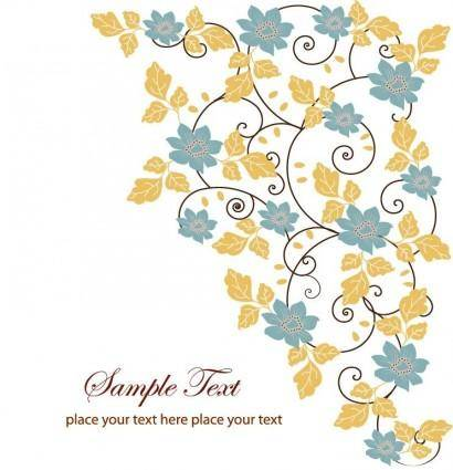 free vector Free Floral Swirl Greeting Card Vector