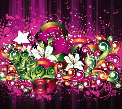 free vector Free Floral Design Vector Background