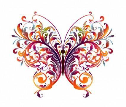 free vector Abstract Floral Butterfly Vector Graphic