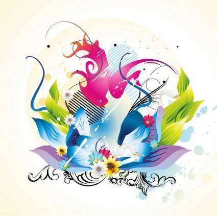 free vector Floral Design Vector Graphic