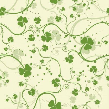 free vector Green Seamless Floral Vector Background