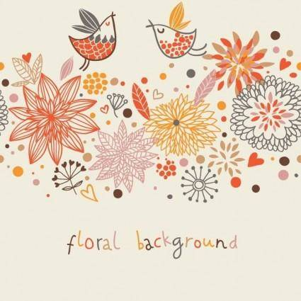 free vector Stylish Floral Vector Background