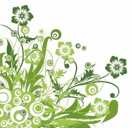 free vector Green Floral Design Vector Graphic