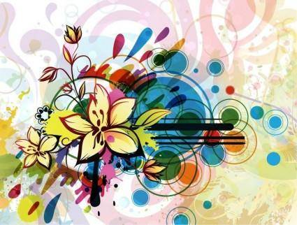 free vector Abstract Flower Background Vector
