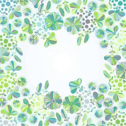 free vector Flowers Frame Vector