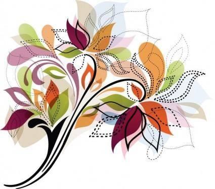 free vector Flower Design Element Vector Illustration
