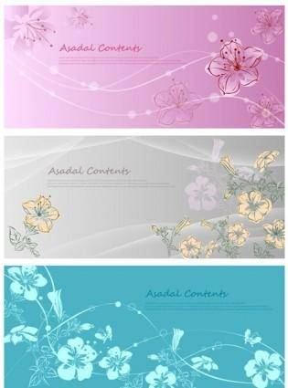 free vector Vector fantasy flowers hand-painted