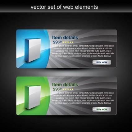 Web design decorative elements vector 4
