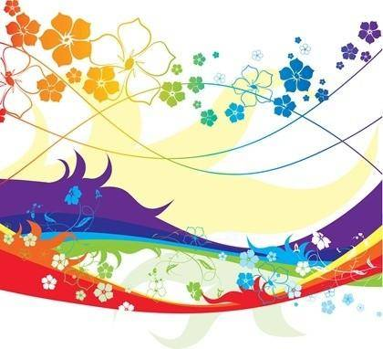 free vector Free Colorful Flower Vector Illustration