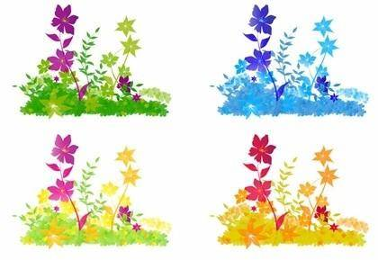 free vector Free Vector Flower Patch