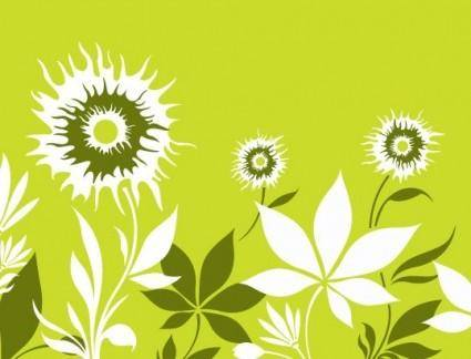 free vector Sunflower with Flowers Vector