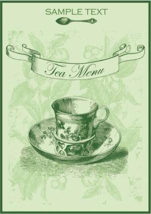 free vector Green tea menu 01 vector